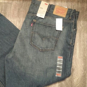 NWT 50x30 Levi's 559 Relaxed Straight Blue Jeans